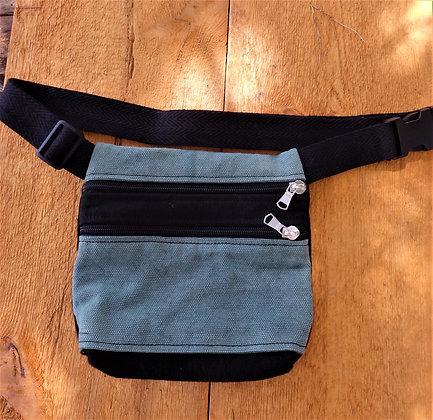 Riñonera 2 bolsillos Verde