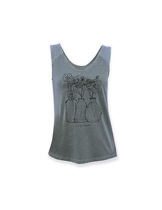 Camiseta de tirantes mujer Flowers
