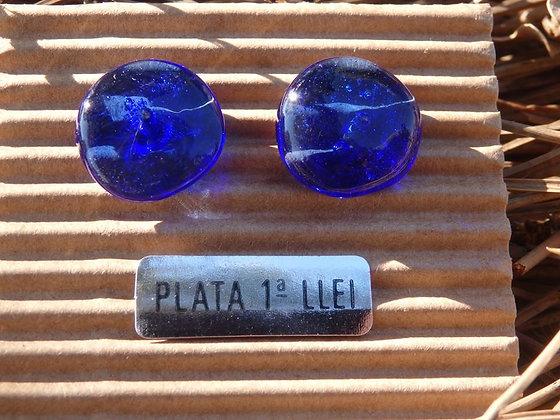 Pendientes vidrio reciclado Azul II