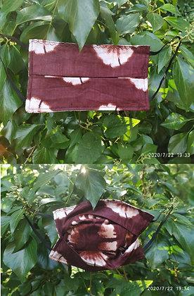 "Mascarilla de algodón con bolsillo ""Batik"""