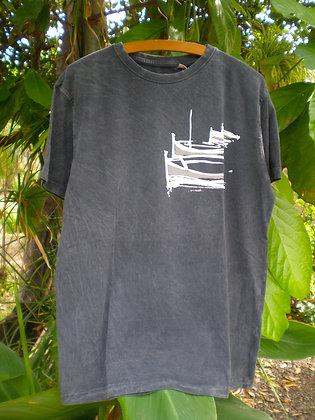 Camiseta Barcas gris marengo