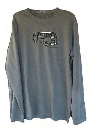 """Camiseta algodón """"Furgoneta"""" caqui lavado"""