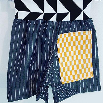 Pantalón rayas y cuadros