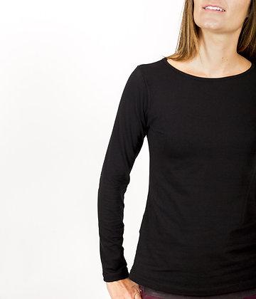 Camiseta de algodón Paula Negra