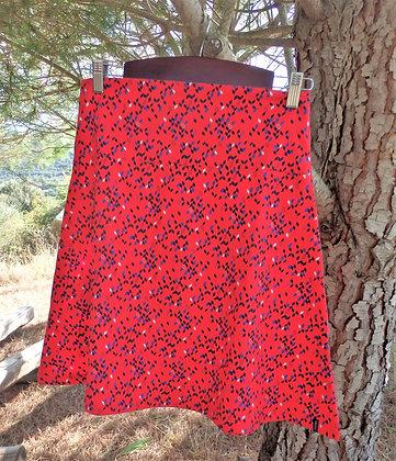 Falda de algodón Camilla, cometa roja