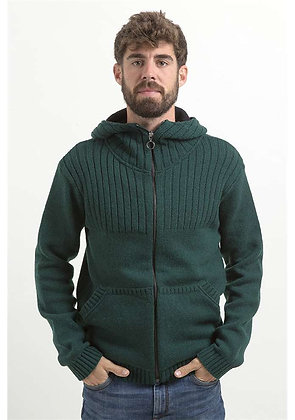 Jersey de lana Ficus verde