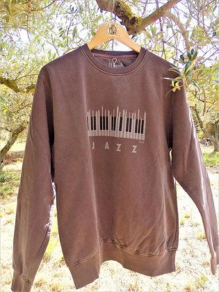 Sudadera algodón Piano, color granada