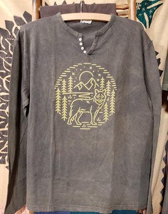 Camiseta de algodón Lobo