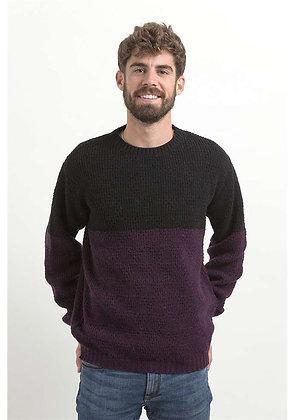 Jersey de lana Saüc negro y granate