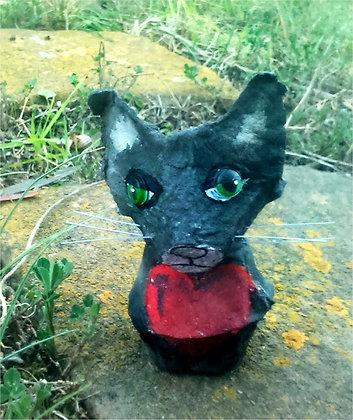Gatito reciclado