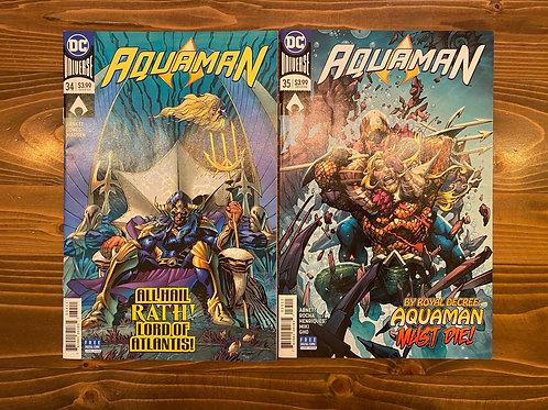 Aquaman #34-35 Set