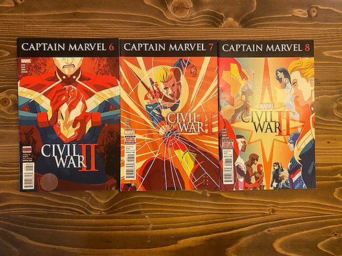 Captain Marvel #6-7-8 Set