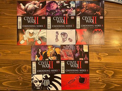 Civil War II Choosing Sides #2-3-4-5-6 Set
