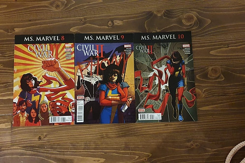 Ms. Marvel #8-9-10 Set
