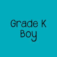 Grade K Boy