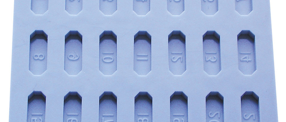 Molde para silicón para preparación de muestras embebidas para TEM