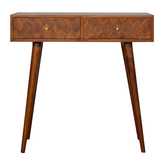 Handmade Solid Wood Assorted Chestnut Console Table