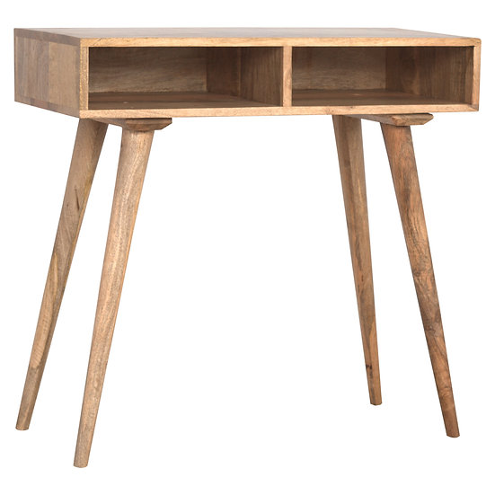 Handmade Solid Wood Nordic Style Open Shelf Writing Desk