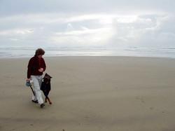my heart and soul heeling on the beach on the Oregon Coast!