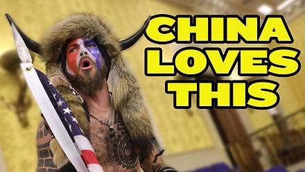 China LOVES US Capitol Chaos