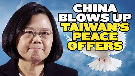China Blows Up Taiwan's Olive Branch