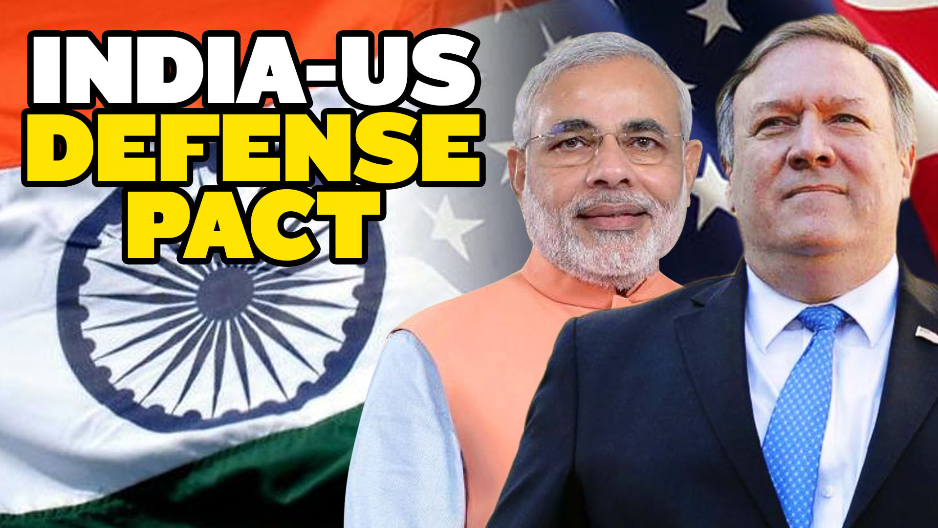 India US Sign Military Pact Against China