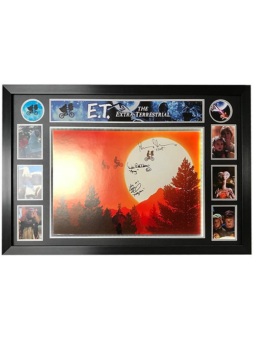Framed LED Lit E.T. Poster Signed by Thomas, MacNaughton & Wallace
