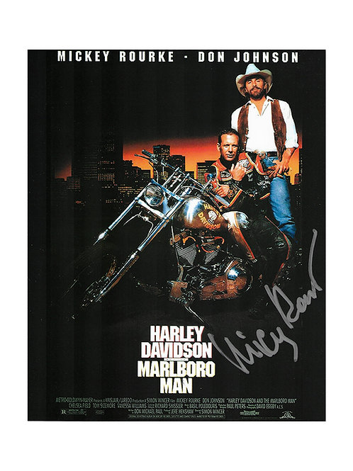 8x10 Harley Davidson and the Marlboro Man Print Signed by Mickey Rourke