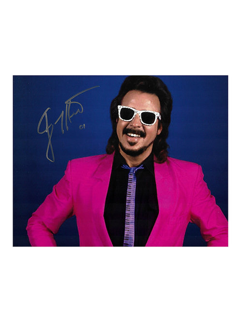 """10x8 Print Signed by Wrestling SuperstarJimmy """"Mouth Of The South"""" Hart"""