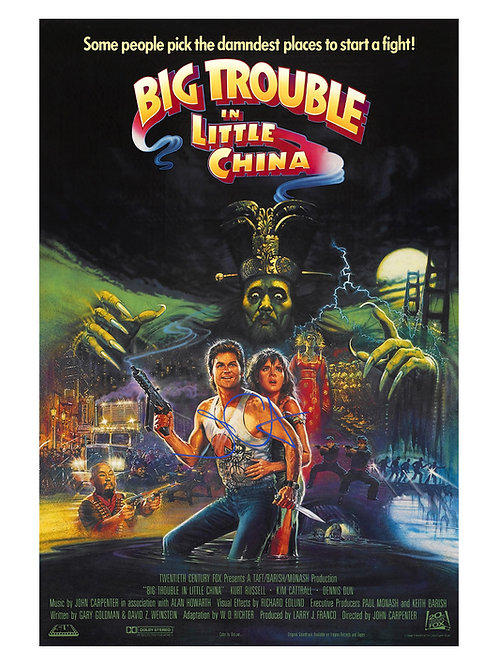 A2 Big Trouble In Little China Poster Signed by John Carpenter