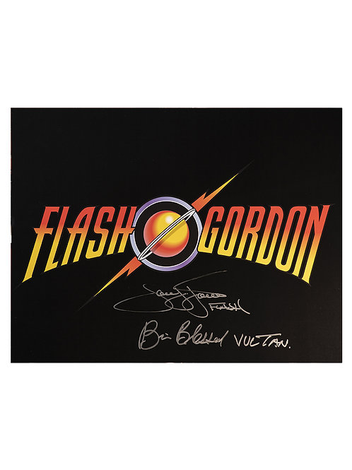 16x12 Flash Gordon Print Signed by Sam J Jones and Brian Blessed