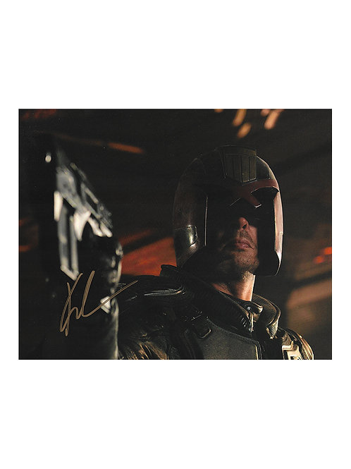 10x8 Dredd Print Signed by Karl Urban