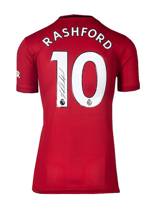 2019-20 Manchester United Shirt Signed By Marcus Rashford