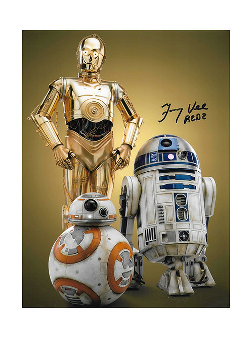 8x10 Star Wars Print Signed by Jimmy Vee