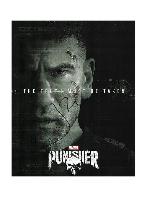 8x10 The Punisher Print Signed by Jon Bernthal