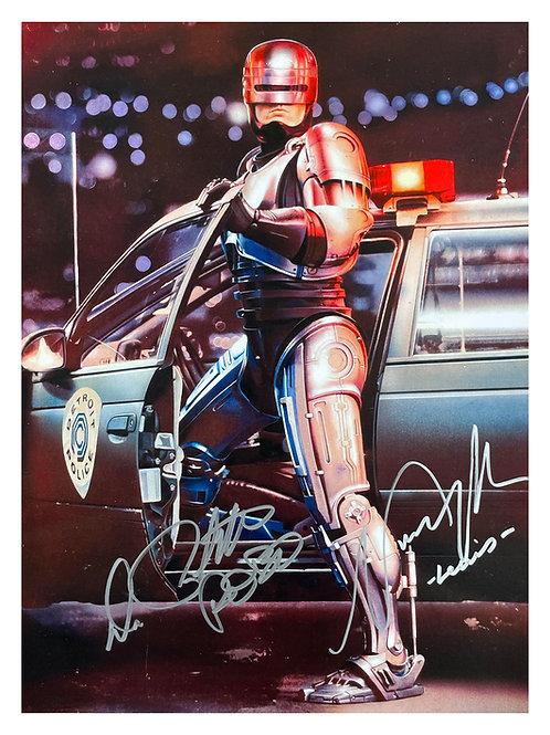 12x16 Robocop Print Signed by Peter Weller and Nancy Allen