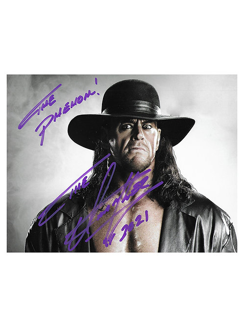 9x7 Quoted Print Signed by Wrestling Superstar Mark Calaway