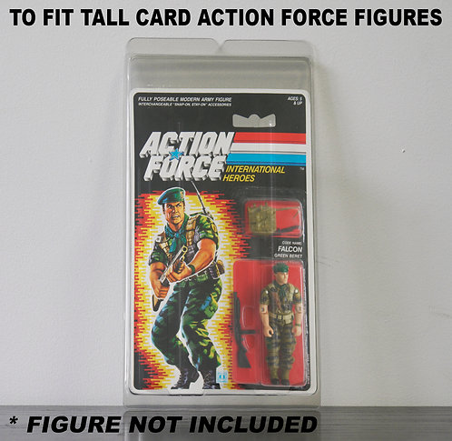 Protective Cases For MOC Action Force Taller Carded Figures - Various Pack Sizes