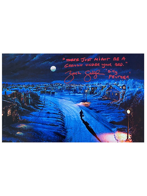 16x10 Gremlins Print With Quote Signed by Zach Galligan