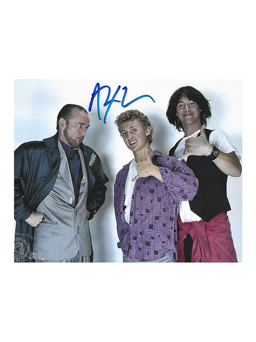 10x8 Bill & Ted's Excellent Adventure Print Signed by Alex Winter