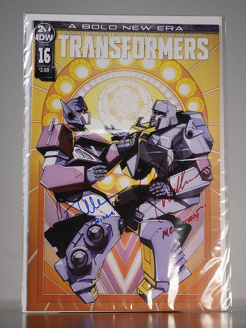 Transformers Comic Signed by Frank Welker & Peter Cullen