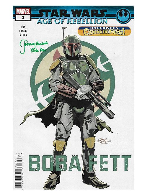 Boba Fett Comic Book Signed by Jeremy Bulloch