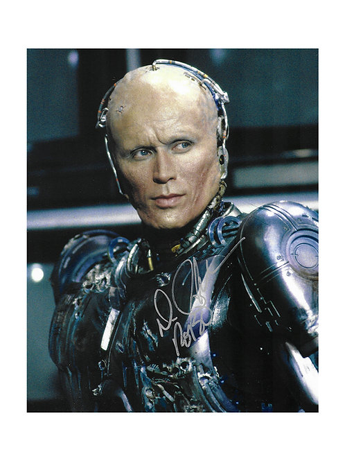 8x10 Robocop Print Signed by Peter Weller Scratched