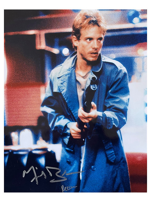 10x13 The Terminator Print With Character Name Signed by Michael Biehn