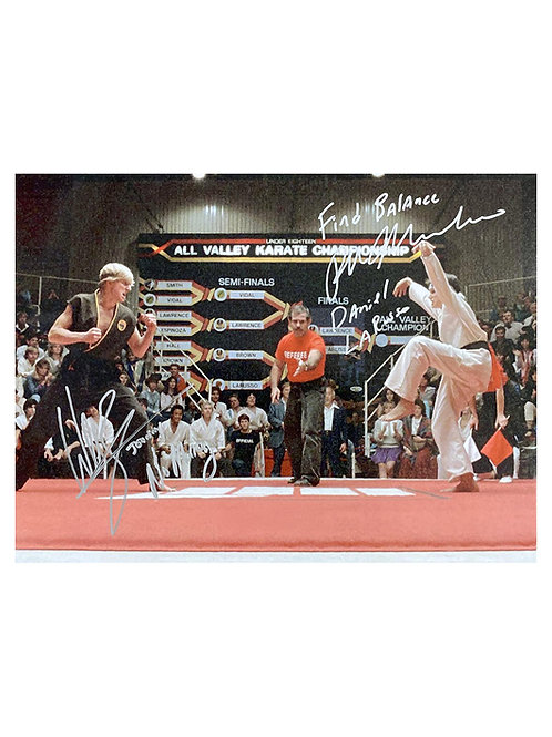 16x12 Karate Kid Print Signed by Ralph Macchio and William Zabka
