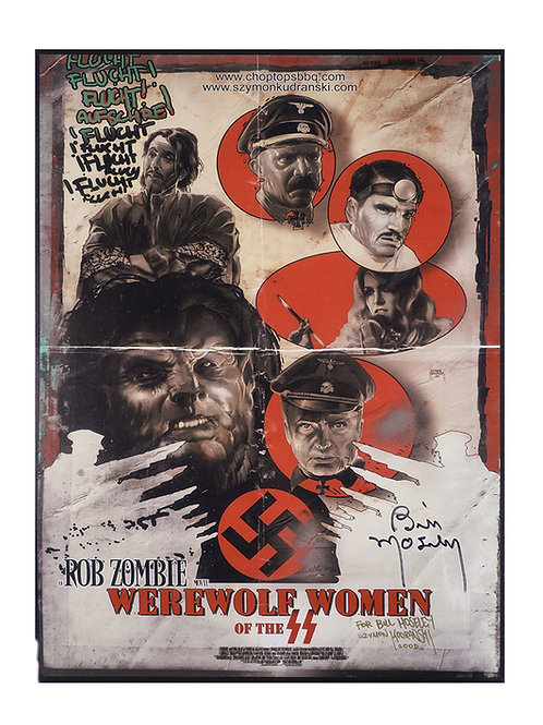 A3 Werewolf Women of the SS Poster Signed by Bill Moseley