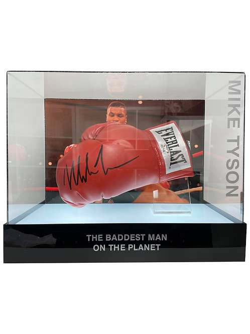 Boxing Glove in LED Lit Display Case Signed By Mike Tyson