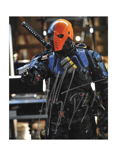 8x10 Arrow Deathstroke Print Signed by Manu Bennett