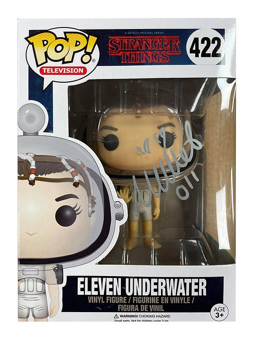 Stranger Things #422 Eleven Underwater Funko Pop Signed by Millie Bobby B