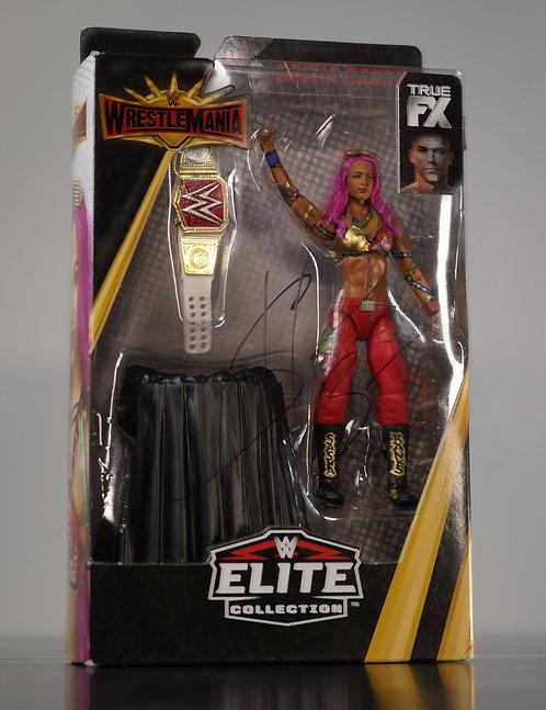 WWE Elite Collection Action Figure Signed by Wrestling Superstar Sasha Banks